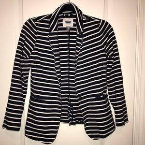 Old Navy - Navy Blue & White Strip Blazer